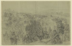 Sheridan's army marching through the Valley during the late summer of 1864. Courtesy of the Library of Congress.