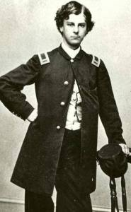 Arthur MacArthur, depicted here as a 1st Lieutenant, was a Major at the Battle of Franklin. He would later be Douglas MacArthur's father.