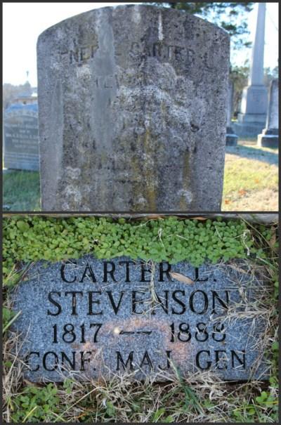 Grave site of General Stevenson, Fredericksburg, Virginia