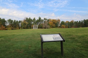 The Colonnade at Princeton; the target property sits to the rear-right, behind the tree line.