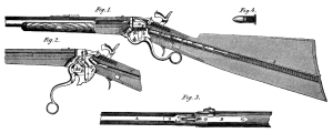 Cross-diagram of a Spencer Rifle, showing its breech-loading capability.