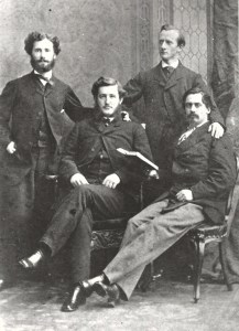 From left: Midshipman John T. Mason, Midshipman O.A. Browne, Lieutenant William Whittle, Lieutenant Sidney Smith Lee. Museum of the Confederacy, Richmond Va.