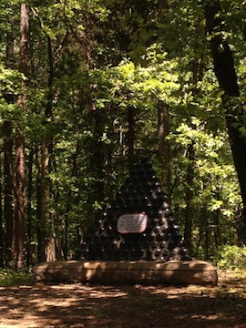 The monument at Chickamauga that marks the location of Helm's death (cm)