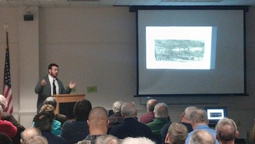 Dan at the Bull Run Civil War Roundtable speaking on the battle of Bentonville