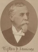 Tipton Jennings as he appeared after the war in the Confederate Veteran.