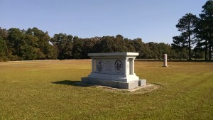 The North Carolina Monument with the Texas Monument in the background.