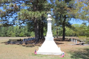 The Goldsboro Rifles Monument.