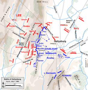 The Confederates Sweep the Field. Map by Hal Jespersen, www.posix.com/CW