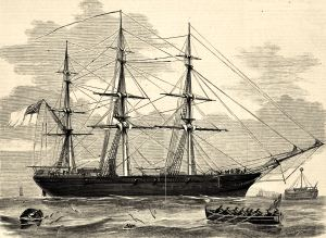 Shenandoah in Hobson's Bay, Melbourne, February 1865. Courtesy of the State Library of Victoria, Melbourne.