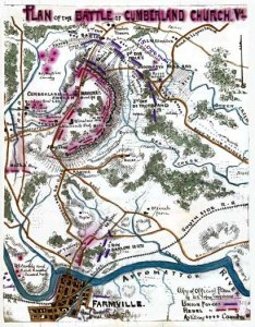 Battle of Cumberland Church, by Robert K. Sneden.  Courtesy Library of Congress