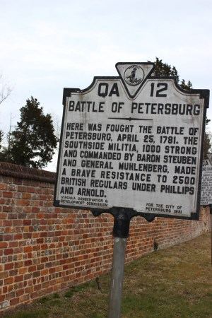 One of the few signs that commemorate the 1781 engagement