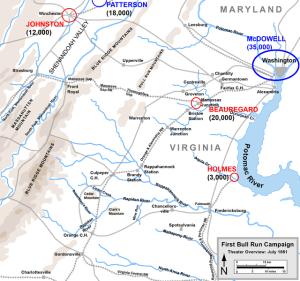 First Manassas Campaign. Map by Hal Jespersen, www.posix.com/CW