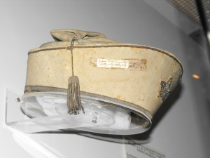 The interior and lining of the hat including the cording. Courtesy of Ray Richey, Texas Civil War Museum.