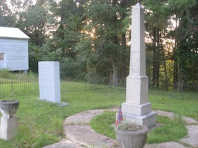 A pair of monuments in Gainesville commemorates Forrest's surrender (Bert Dunkerly)