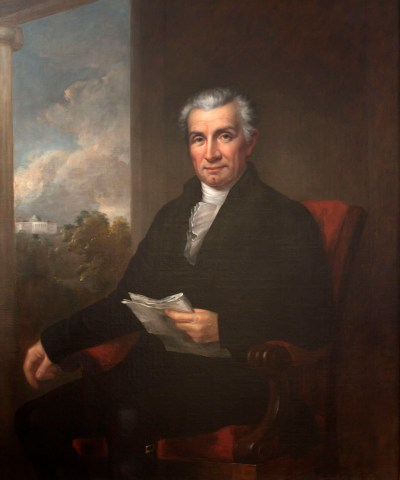 •Rembrandt Peale, James Monroe.  Oil on canvas, ca. 1825 (James Monroe Museum)