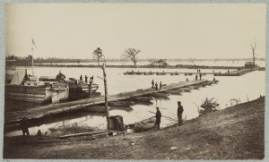 Pontoon Bridge at Deep Bottom. Courtesy of the Library of Congress.