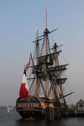 The French ship, L'Hermoine, in Alexandria, Virginia harbor