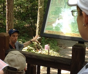 After the group explored Jericho Mills, historian Bobby Krick from Richmond explained some of the background about Hanover County's North Anna Battlefield Park at Ox Ford.