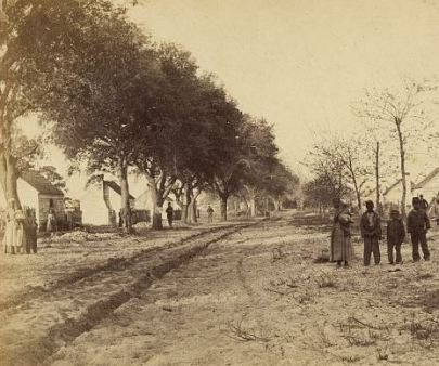 Slave Quarters at General Drayton's Fish Haul Plantation in South Carolina.