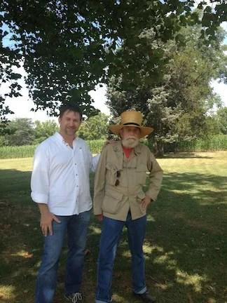 Me and Grant's descendant, John Griffiths