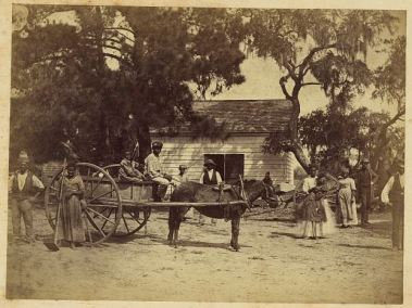 Moore captioned this photograph 'Gwine to da field.' By capturing simple moments like this, he has immortalized a sense of community among a group taking part in the Port Royal experiment.