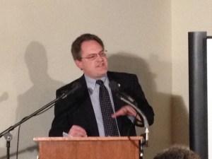 Chris Kolakowski speaking at the Second Annual Emerging Civil War Symposium at Stevenson Ridge.