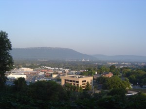 Chattanooga and Lookout Mountain viewed from Missionary ridge