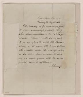 Lincoln's Blind Memo