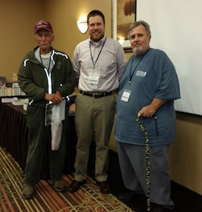 Ted Alexander (right) with historians Ed Bearss and Dan Vermilya at the 2015 Chambersburg Civil War Symposium