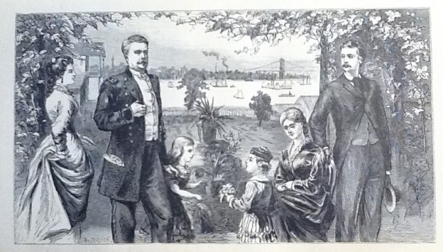 """Winfield S. Hancock & Family (Illustration from """"Life of Hancock"""" published in the 1880's)"""