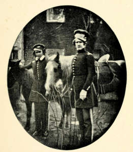 Lts Alexander Hays (R) and Ulysses S. Grant (L), about a year before the outbreak of the Mexican War. Hays was killed at the Battle of the Wilderness in May, 1864, greatly distressing his good friend Grant. (Life and Letters of Alexander Hays, 51)