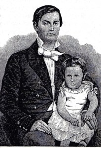 "Winfield S. Hancock and his son, Russell (Illustration from ""Reminiscences of Winfield S. Hancock"" published in 1887)"