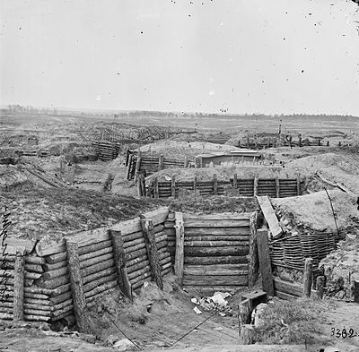 The siege lines at Petersburg.