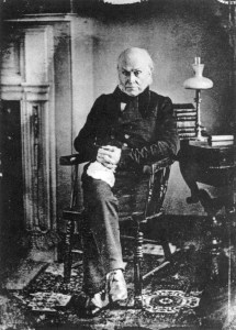 John Quincy Adams led the war's opposition in the House of Representatives