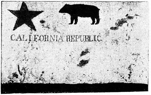 This Bear Flag was designed by William L. Todd and was an early model for the modern California State Flag.