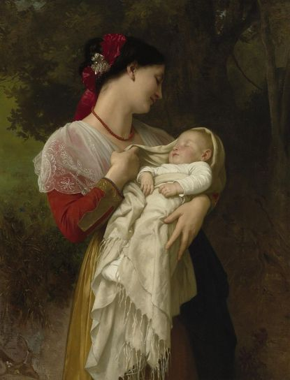 """Maternal Admiration"" by Bouguereau (1869) captures the idealized beauty of Motherhood."