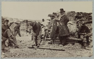Winter camp of the 110th Pennsylvania Infantry.
