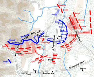 Battle of Chickamauga, September 20, 1863. Map courtesy of Hal Jespersen.  www.posix.com/CW