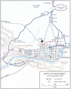 The opening stages of the Battle of Monterrey from Sept. 19-21, 1846. (US Army)