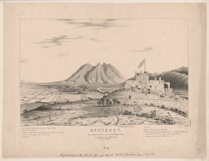 The Bishop's Palace overlooks Monterrey. (LOC)