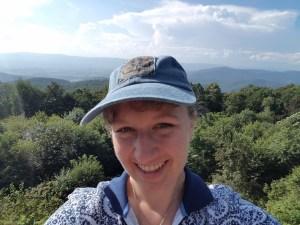 Sarah Kay Bierle at Shenandoah National Park (Skyline Drive)
