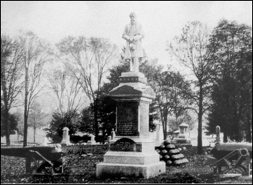 Poland Riverside Cemetery Civil War Monument (Image courtesy Ted Heineman).