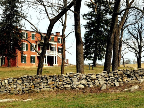 Kernstown-Pritchard House and Stone Wall of Kernstown 02