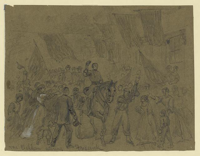 Waud McClellan enters Frederick