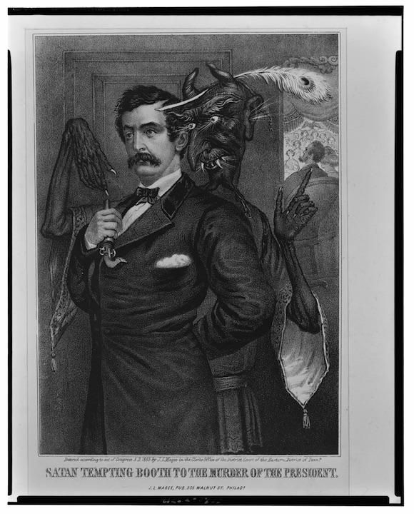 Satan Tempts Booth to Kill Lincoln