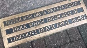 Jefferson Davis plaque