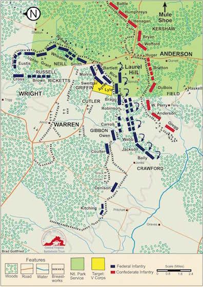 CVBT V Corps Brock Road-map