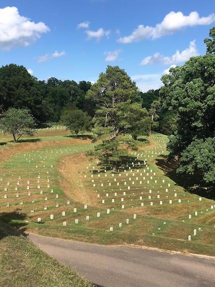 Vicksburg National Cemetery view