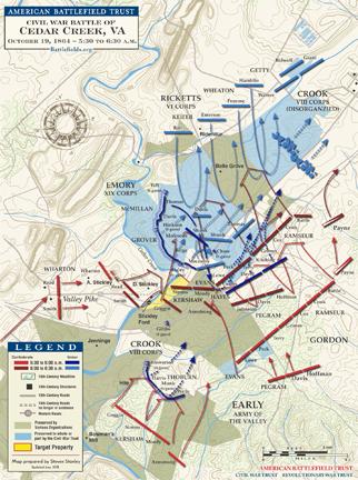 Cedar Creek Trust map (May 2018)