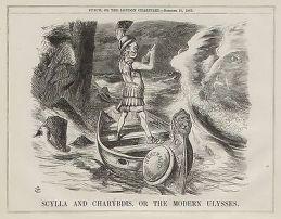 Vintage-Cartoon-Punch-1863-Britain-Neutral-In